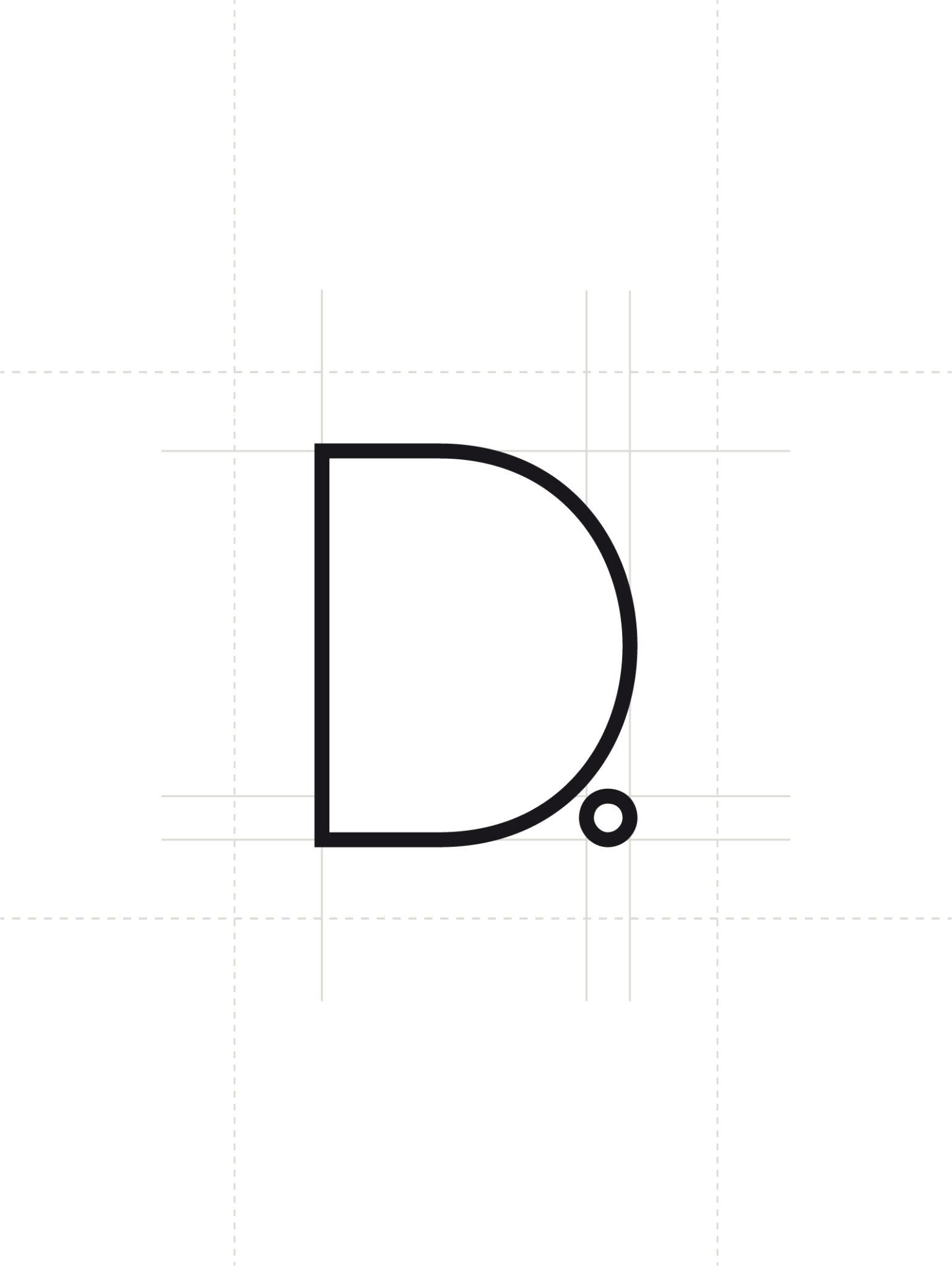 Das Bild zeigt die Designentwicklung des Logos